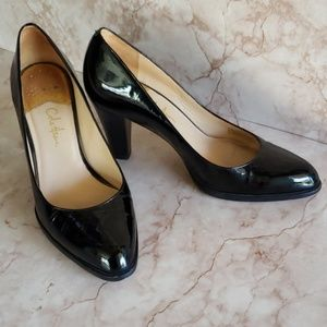 Cole Haan black patent leather classic pumps heels
